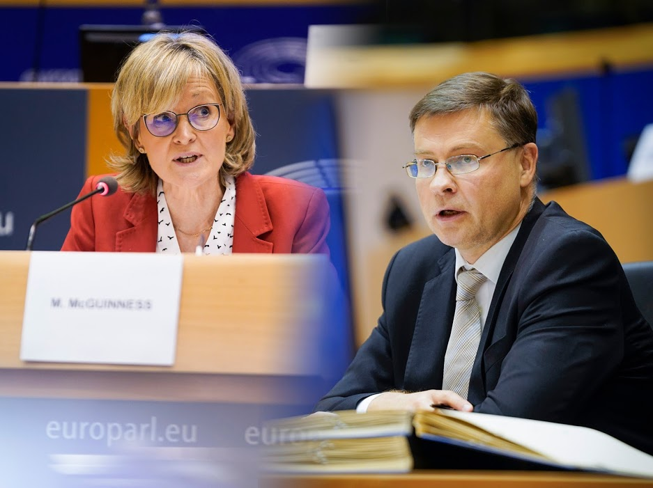 I commissari UE Dombrovskis e McGuinness