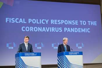 Dombrovskis e Gentiloni - Photographer: Lukasz Kobus - Credit: European Union, 2021