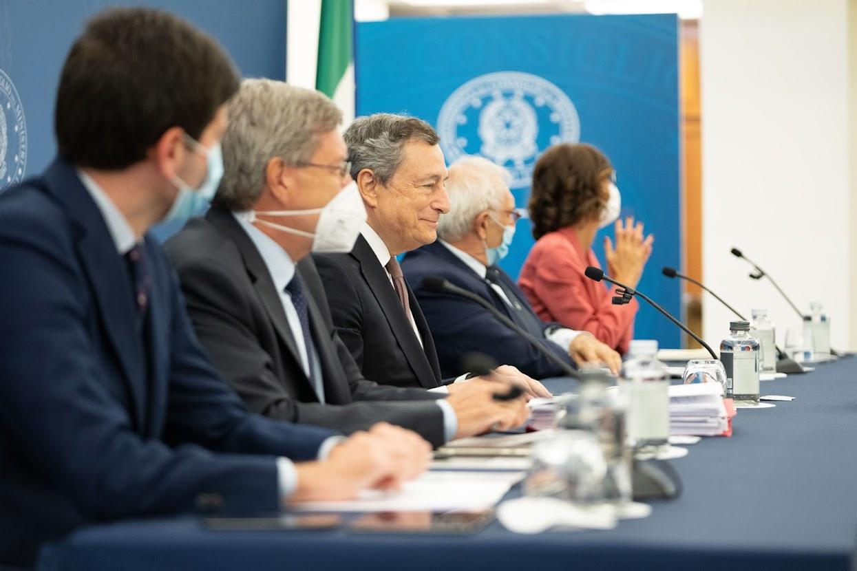 Photocredit: Governo - Immagini messe a disposizione con licenza CC-BY-NC-SA 3.0 IT - Conferenza stampa del 02.09.2021